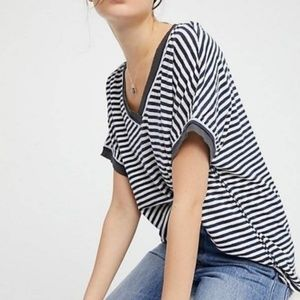 WE THE FREE by FREE PEOPLE Take Me Stripe Tee